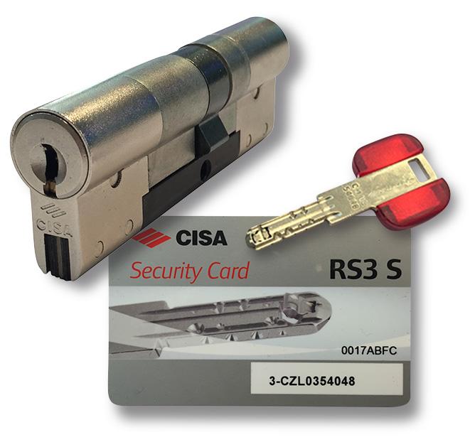 Cylindre + clé + carte Cisa RS3 S