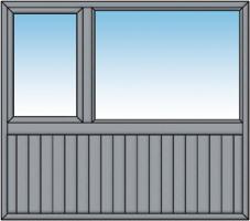 Allège en planchettes verticales  Gris Structuré