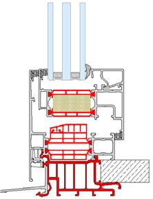 Profil d'appui isolant - drainage invisible